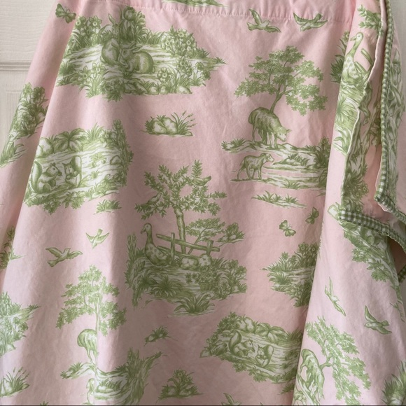 Pottery Barn Kids Pink Woodland Toile Duvet Cover